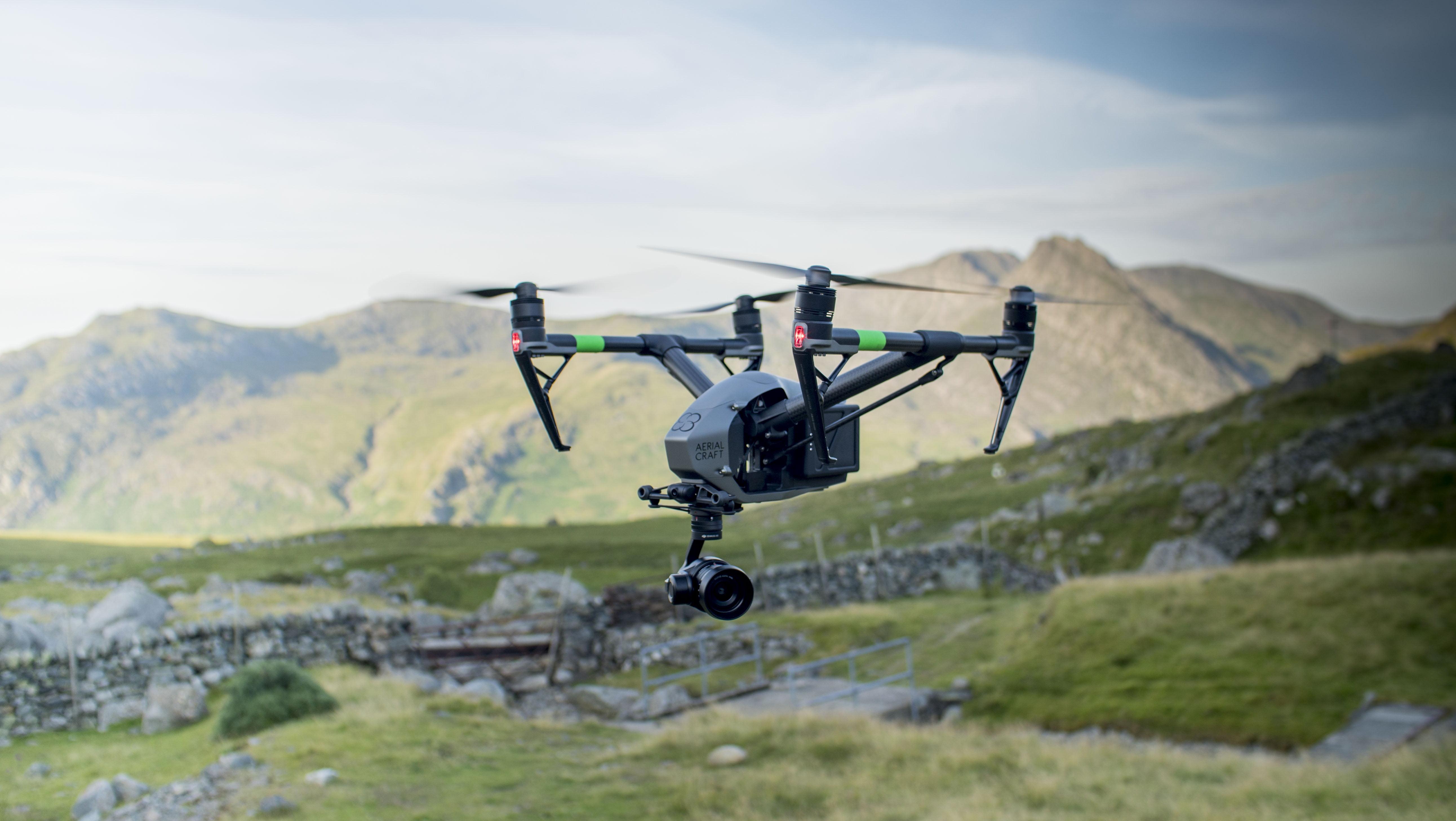 Aerial Craft | Equipment | DJ Inspire 2 Drone in Flight