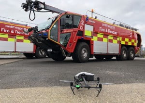 DJI Inspire 2 in the controlled airspace of Cardiff Airport