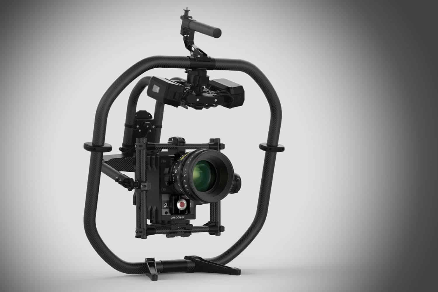 movi pro armed with a red dragon